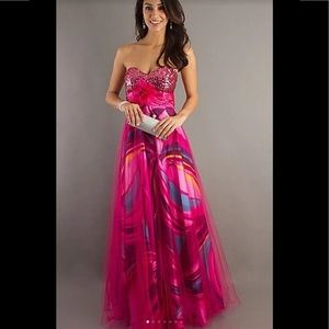 Floor Length Strapless Sweetheart Prom Dress Gown